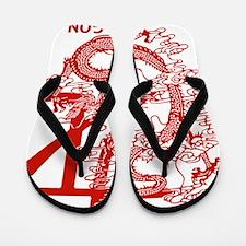 chinese-zodiac-dragon_red Flip Flops