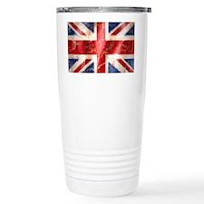 475 Union Jack Flag license pla Travel Mug