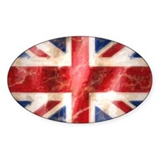475 Union Jack Flag license plate h Decal