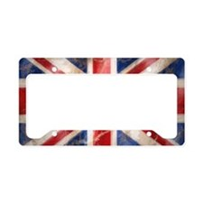475 Union Jack Flag aluminium License Plate Holder