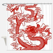 dragon_red Shower Curtain