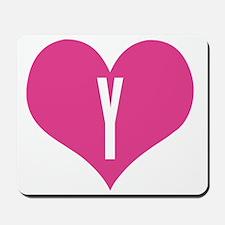 Heart Y letter Mousepad
