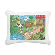 Farm Animals Rectangular Canvas Pillow