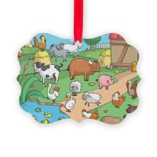 Farm Animals Ornament
