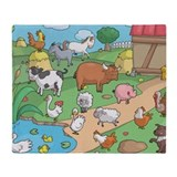Farm Fleece Blankets