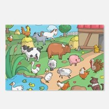 Farm Animals Postcards (Package of 8)