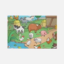 Farm Animals Rectangle Magnet