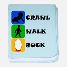 Crawl Walk Ruck baby blanket