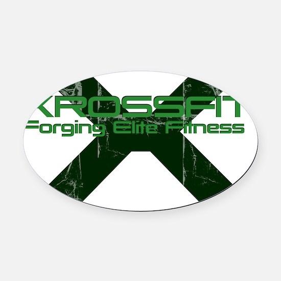 Xross fitness Oval Car Magnet
