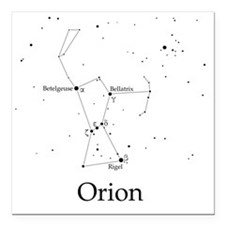 "Orion Square Car Magnet 3"" x 3"""