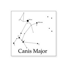 """Canis Major Square Sticker 3"""" x 3"""""""