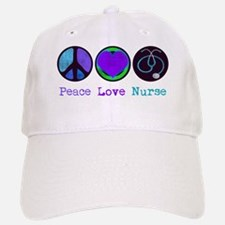 peace_love_nurse Baseball Baseball Cap