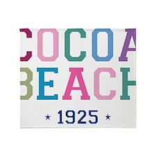 Cocoa Beach 1925 B Throw Blanket