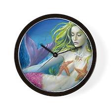maroon merm Wall Clock