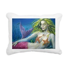 maroon merm Rectangular Canvas Pillow