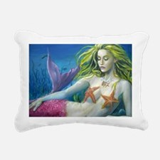 maroon merm Rectangular Canvas Pillow