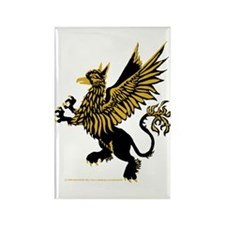 Gryphon Black Gold Rectangle Magnet