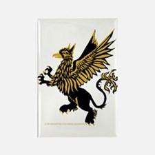 Gryphon Black Gold Rectangle Magnet