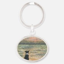 Good morning, Morning Oval Keychain