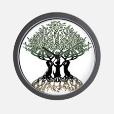 Ferret Tree of Life 2 Wall Clock