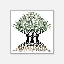 "Ferret Tree of Life 2 Square Sticker 3"" x 3"""