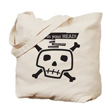 skull-back Tote Bag