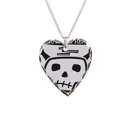 skull-back Necklace Heart Charm