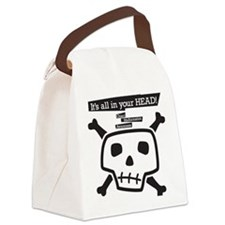 skull-back Canvas Lunch Bag