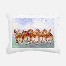 Five walk away together  Rectangular Canvas Pillow
