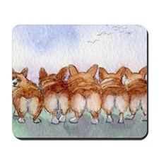 Five walk away together narrower Mousepad