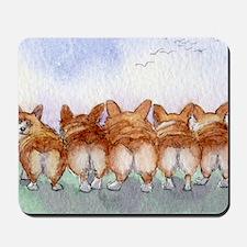Five walk away together narrower Mousepad