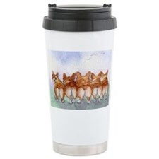 Five walk away together narrowe Travel Mug