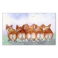 Five walk away together narrow Decal