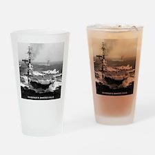 fdr cva framed panel print Drinking Glass