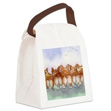 Five walk away together wider Canvas Lunch Bag