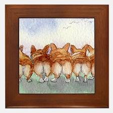 Five walk away together wider Framed Tile