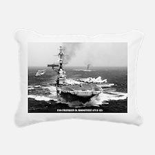 fdr lare framed print Rectangular Canvas Pillow