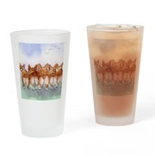 Five walk away together square squa Drinking Glass