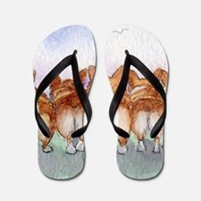 Five walk away together square square Flip Flops