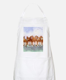 Five walk away together square square Apron