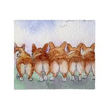 Five walk away together square squar Throw Blanket