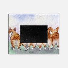 Five walk away together square squar Picture Frame