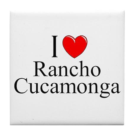 """""""I Love Rancho Cucamonga"""" Tile Coaster"""