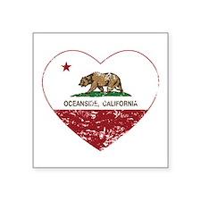 california flag oceanside heart heart distressed S