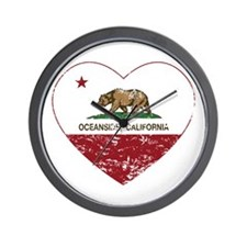california flag oceanside heart heart distressed W