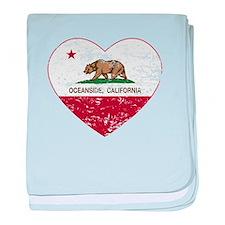 california flag oceanside heart heart distressed b