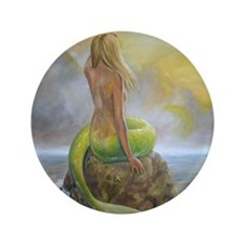 "mermaids perch 3.5"" Button"
