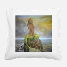 mermaids perch Square Canvas Pillow
