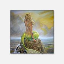 """mermaids perch Square Sticker 3"""" x 3"""""""