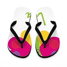 Lisa-the-butterfly Flip Flops